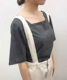 sonyunara/SONYUNARA(ソニョナラ)ボートネックストライプTシャツ/502314898