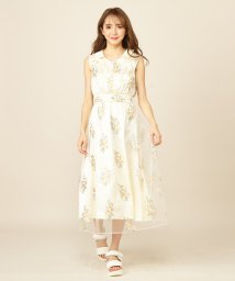 MIIA/カラー刺繍ロングワンピース/502324553