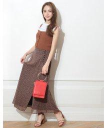Apuweiser-riche/小花ラップ風ロングスカート/502328555