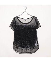 GUESS/ゲス GUESS SS WAVES BURNOUT TEE (JET BLACK)/502330577