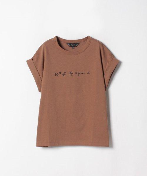 To b. by agnes b.(トゥービー バイ アニエスベー)/W984 TS ロゴTシャツ/4056W984H18