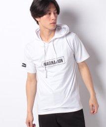 STYLEBLOCK/ボックスロゴフード袖プリント半袖Tシャツカットソーパーカー/502302586
