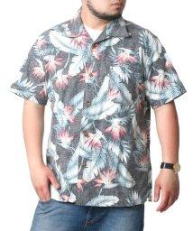 MARUKAWA/大きいサイズ メンズ アロハ シャツ 綿 裏使い 総柄 プリント オープンカラー 開襟/502305946