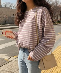 MICHYEORA/MICHYEORA(ミチョラ)デイリーストライプTシャツ-/502314796
