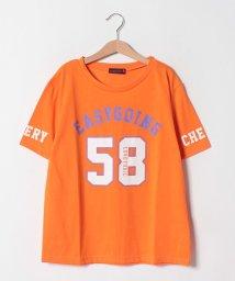 Lovetoxic/袖ロゴナンバーTシャツ/502317002
