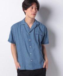 JNSJNM/【BLUE STANDARD】デニムオープンカラーシャツ/502317185