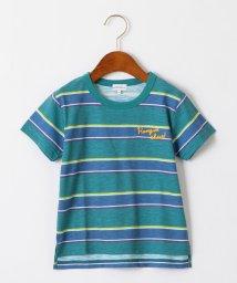 green label relaxing (Kids)/スラブボーダープリントTシャツ/502332537