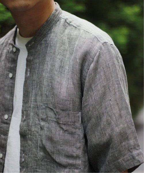JOURNAL STANDARD relume Men's(ジャーナルスタンダード レリューム メンズ)/Linen Panama バンドカラーシャツ/19051464310010
