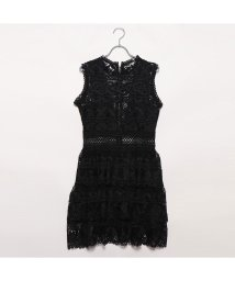 GUESS/ゲス GUESS GEN SEE-THROUGH LACE DRESS (JET BLACK)/502333474