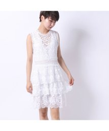 GUESS/ゲス GUESS GEN SEE-THROUGH LACE DRESS (TRUE WHITE)/502333475