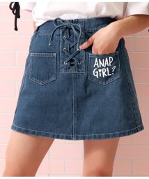 ANAP GiRL/スピンドルデニムインパンツスカート/502297809
