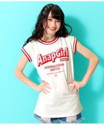 ANAP GiRL/ボーダーリブチュニックTOPS/502310007