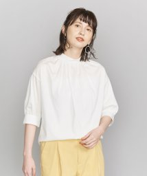 BEAUTY&YOUTH UNITED ARROWS/BY ギャザーハイネック5分袖カットソー/502327649
