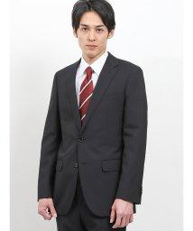 TAKA-Q/ウォッシャブル無地黒 2パンツスーツ スリム/502328647