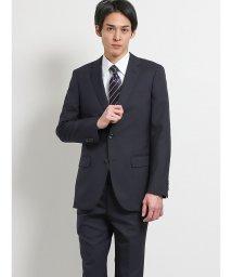 TAKA-Q/ウォッシャブル無地紺 2パンツスーツ スリム/502328648