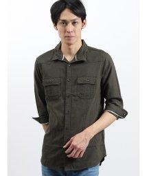 semanticdesign/パナマスタンドカラー衿ワイヤー7分袖シャツアウター/502328695