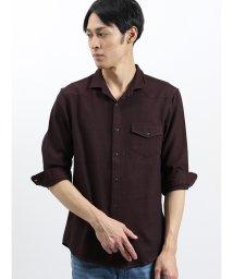 semanticdesign/ハニカムドビー スタンドカラー衿ワイヤー7分袖シャツ/502328696