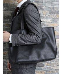 TAKA-Q/【WEB限定】タカキューメンズ/TAKA-Q:MEN チャーム付A4対応トートバッグ(黒・キャメル・こげ茶・ネイビー)/502329019