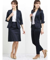 TAKA-Q/ストレッチ 1釦7分袖テーラージャケット+スカート+パンツ/502329022