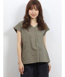 TAKA-Q/Vネック重ね袖バックシャンシャツ/502329054