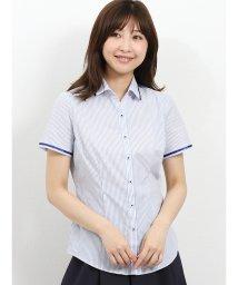 TAKA-Q/形態安定レギュラーカラースキッパーテープ使い半袖シャツ/502329129