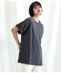 Settimissimo/ドロップショルダーモノトーンプリントTシャツ/502333679