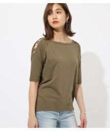 AZUL by moussy/SHOULDER LACEUP TOPS/502334010