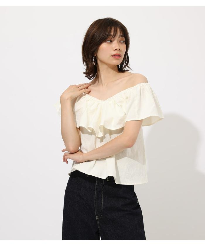 RUFFLE 2WAY BLOUSE