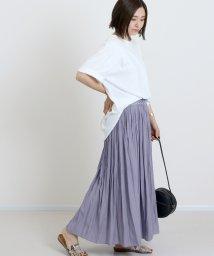 FUNNY COMPANY+/マットサテンランダムプリーツスカート/502334518