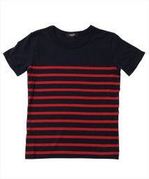 GLAZOS/ボーダー切り替え半袖Tシャツ/502335994