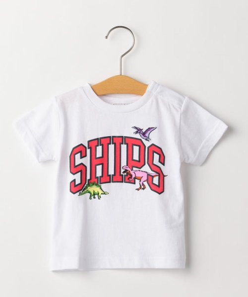 SHIPS KIDS(シップスキッズ)/SHIPS KIDS:ロゴ×恐竜 プリント TEE(80~90cm)/512320411