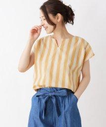 SHOO・LA・RUE Cutie Blonde/【防シワ】マルチストライプシャツ/502337117