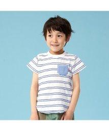 apres les cours/ボーダー半袖Tシャツ/502003294