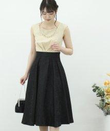 Eimy Peral/ジャガード素材ネックレス付きドレス/502311111