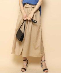MK MICHEL KLEIN/【洗える】リボンサッシュ付きスカート見えワイドパンツ/502338175