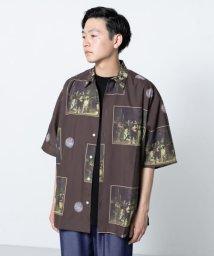 SENSE OF PLACE/アートグラフィックシャツ(5分袖)/502339740