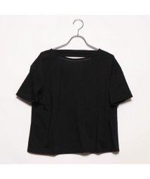 STYLEBLOCK/スタイルブロック STYLEBLOCK 二重地天竺バックドレープTシャツ (ブラック)/502340508