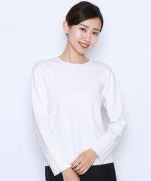 LASUD/【アーガ Aga】ロールアップスリーブ ライン ニット/501963088