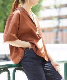 ROPE' mademoiselle/タイプライターオープンカラーシャツ/502316590