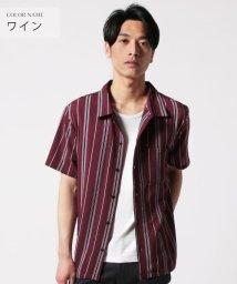 THE CASUAL/(レボ) Revo. マルチストライプ半袖オープンカラーシャツ/502335672