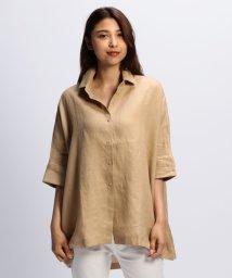 NARA CAMICIE/イタリアン麻ドルマンチュニックシャツ/502339686