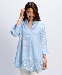 NARA CAMICIE/イタリアン麻カットワークチュニックシャツ/502339688