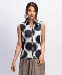 NARA CAMICIE/ラージドットノースリーブシャツ/502339693