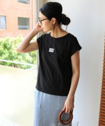 and Me.../whatever刺繍ボックスロゴフレンチスリーブ Tシャツ/502341432