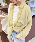 ANDJ/ビッグポケットオーバーサイズシャツ/502341730