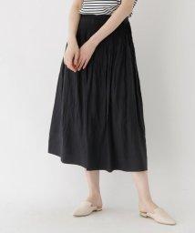 DRESSTERIOR/【洗える】ピンタック麻スカート/502341781