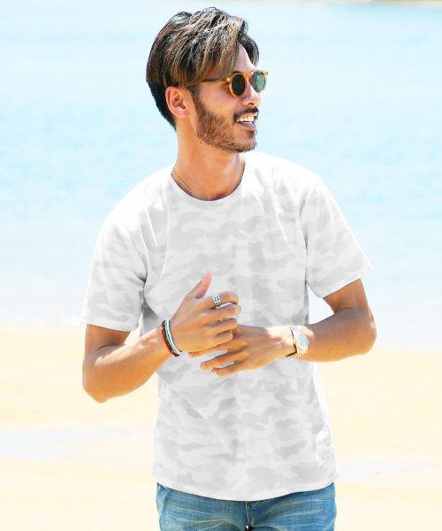 JIGGYS SHOP(ジギーズショップ)/サマーパイルTシャツ / Tシャツ 半袖 パイル プリント ティーシャツ/202412