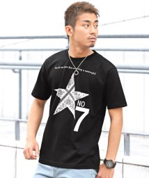 LUXSTYLE/ペイズリー柄スタープリント半袖Tシャツ/Tシャツ メンズ 半袖 プリント ペイズリー 星/502342558