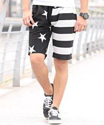LUXSTYLE/ミニ裏毛アメリカ国旗モチーフショートパンツ/ショートパンツ メンズ 星条旗 アメリカ国旗 BITTER ビター系/502342565