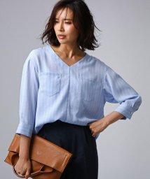 UNTITLED/[L]【洗える】クルーズストライプダブルポケットシャツ/502343129